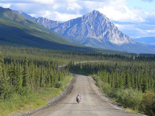 Dalton Highway en moto.