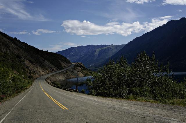 Panorámica de la Klondike Highway