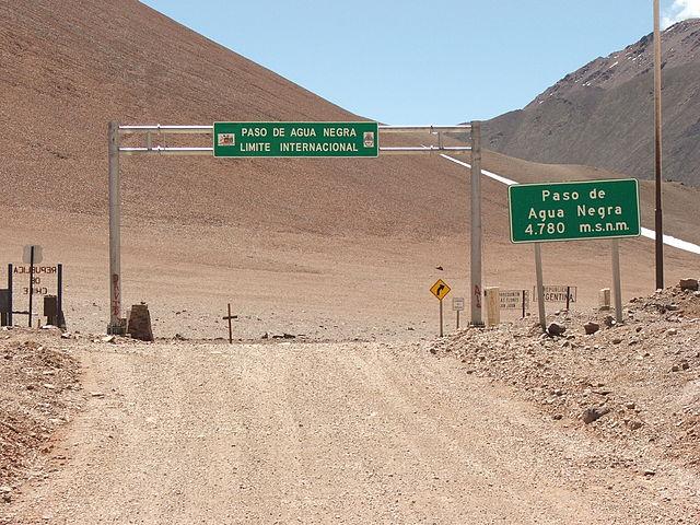 Paso fronterizo en el lado Argentino