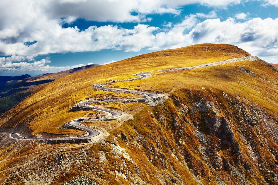 Transalpinia en otoño