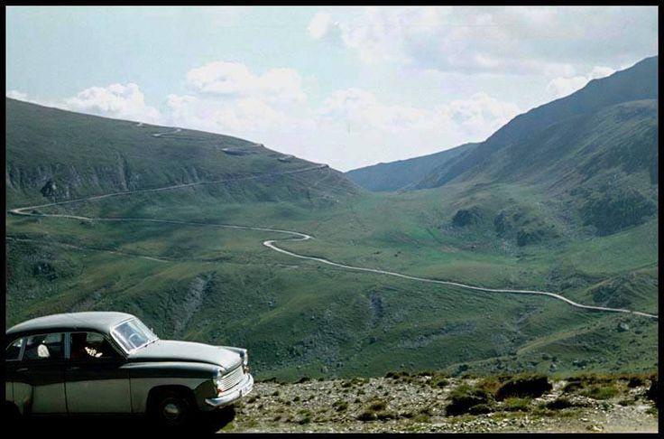 Carretera Transalpina en los años 60