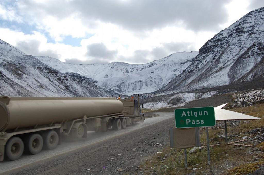 Atigun Pass, en su punto más alto