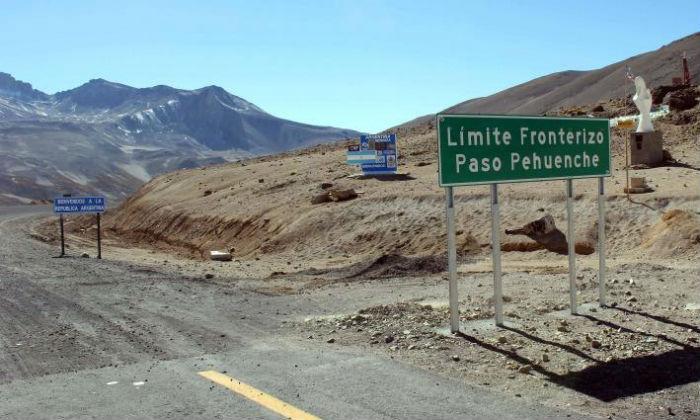 Paso Pehuenche entre Chile y Argentina