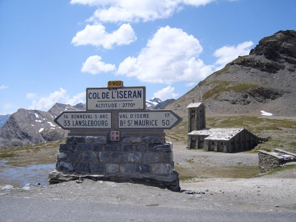 Señal en el Col de l'Iseran