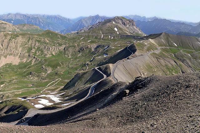 Vista aérea del Col de la Bonnette