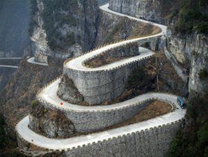 Vista aérea de la montaña Tianmen