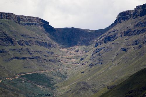 El Sani Pass, de frente
