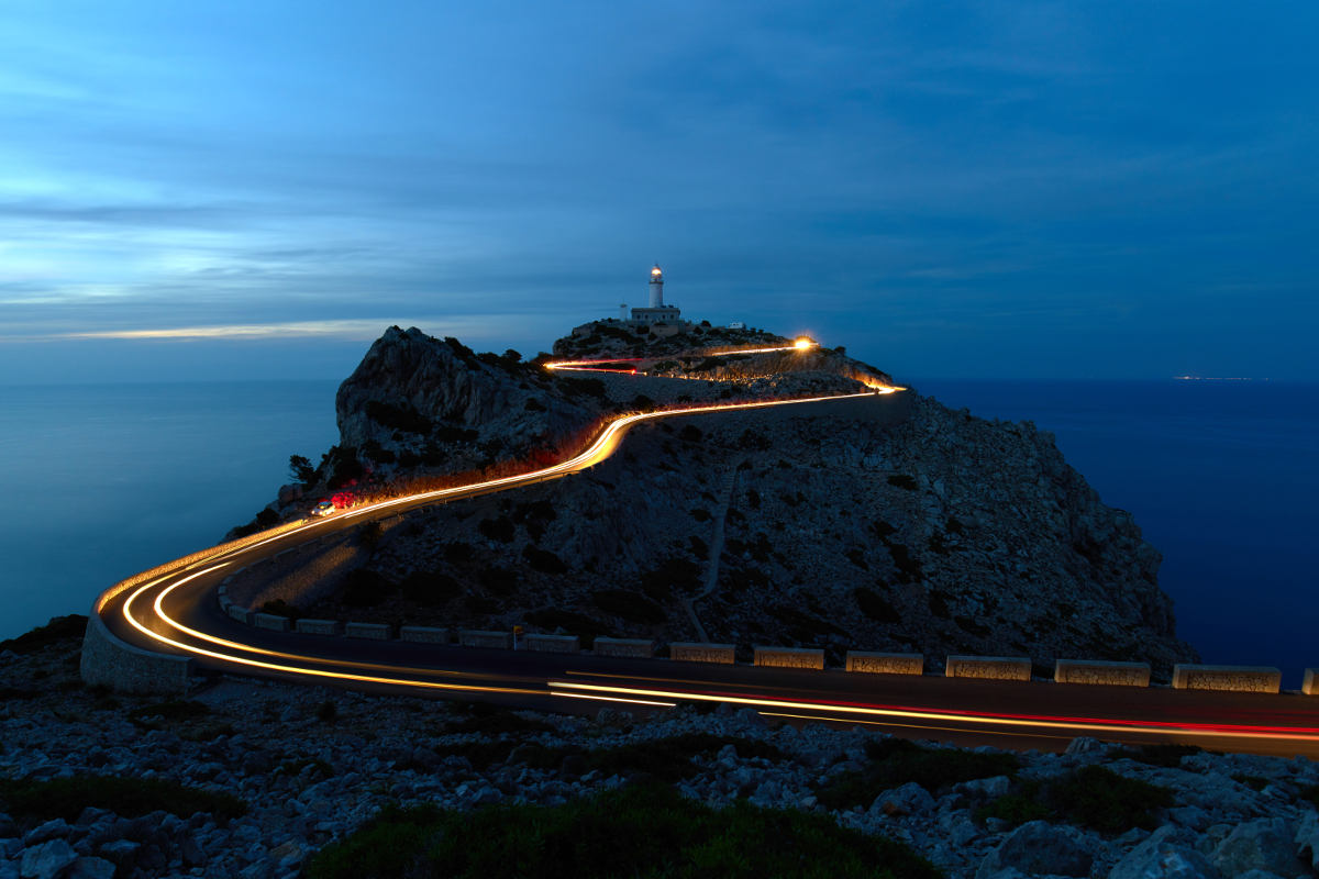 Cap Formentor de noche