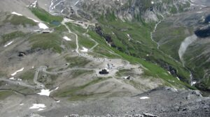 Imagen aerea del Col de L'Iseran