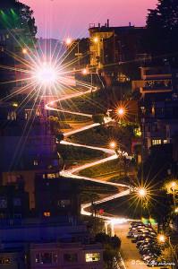 Lombard Street de noche