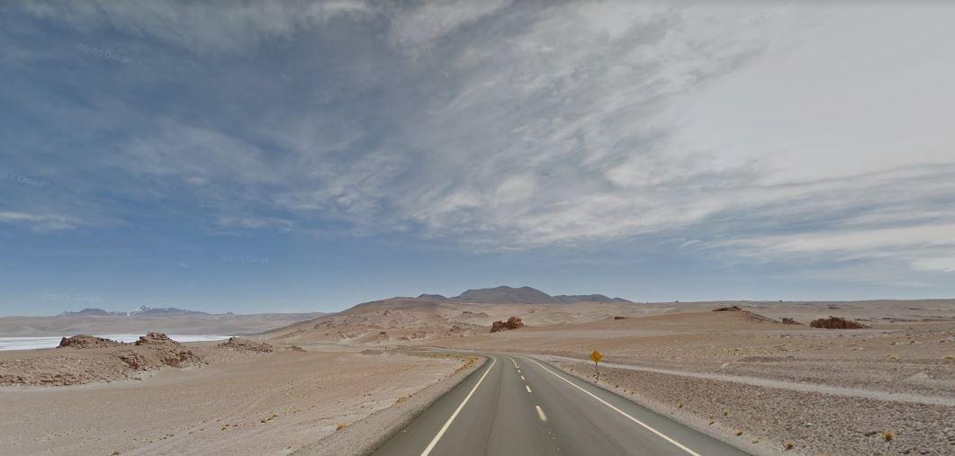 Paso de Jama tras pasar la frontera desde Argentina hacia Chile
