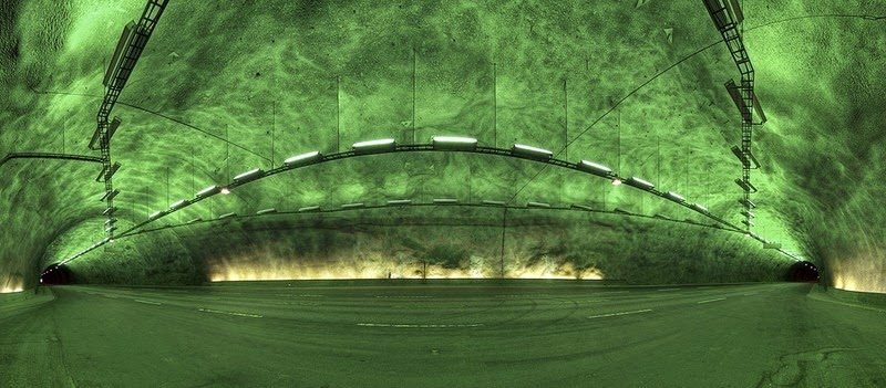 Panorámica del Tunel Laerdal