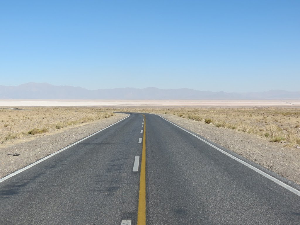 Vistas del altiplano en el lado chileno
