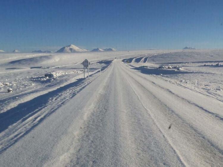 Paso de Jama con nieve