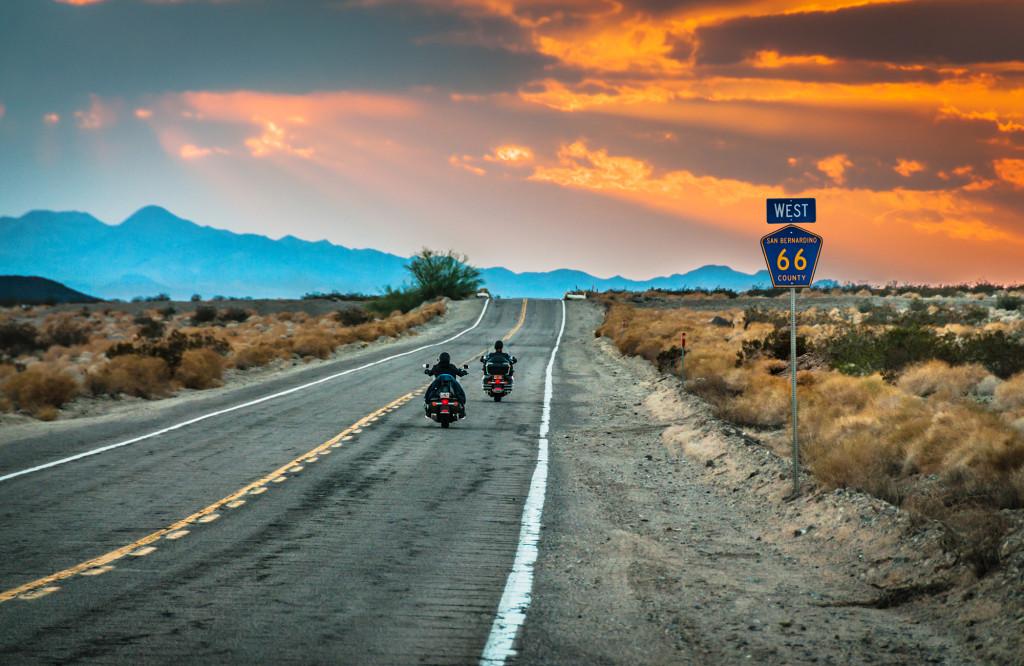 Moteros por la Route 66