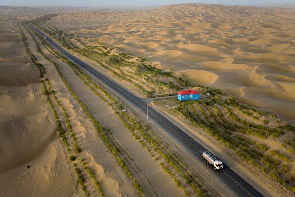 Vista aérea de la Autopista de Tarim
