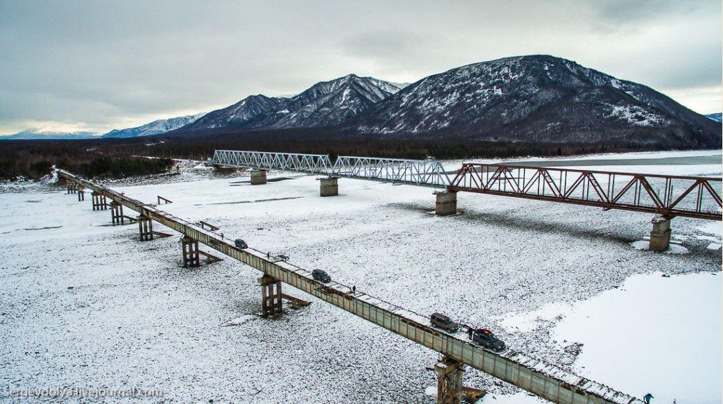 Vista aerea del puente Kuadinsky