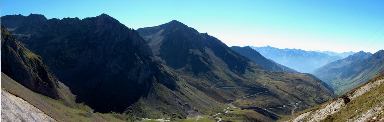 Vista desde la cima del lado oeste del Tourmalet