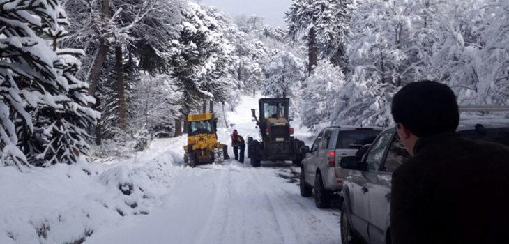 Nieve y retenciones en el paso Pino Hachado