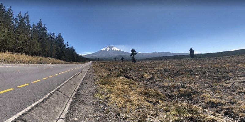Acercandonos al volcán Cotopaxi