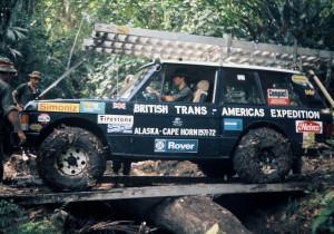 Range Rover de la expedición en la Darien Gap, foto de Kelvin Kent, miembro de la expedición.