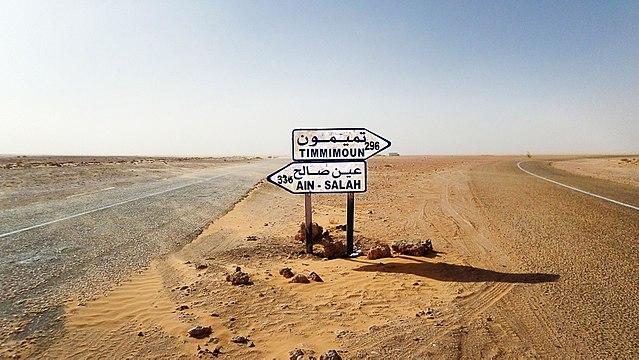 Cruce en la Transahariana entre Timmimoun y Ain Salah