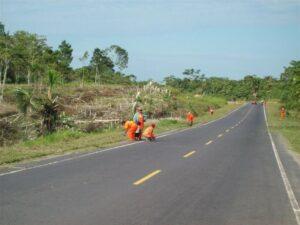 Obras en la Iquitos Nauta