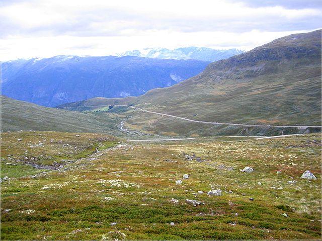 Parte alta de la Snøvegen