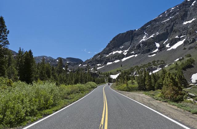 Paisaje montañoso en el Sonora Pass