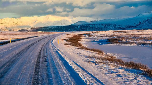Típica escena de la Ring Road en invierno